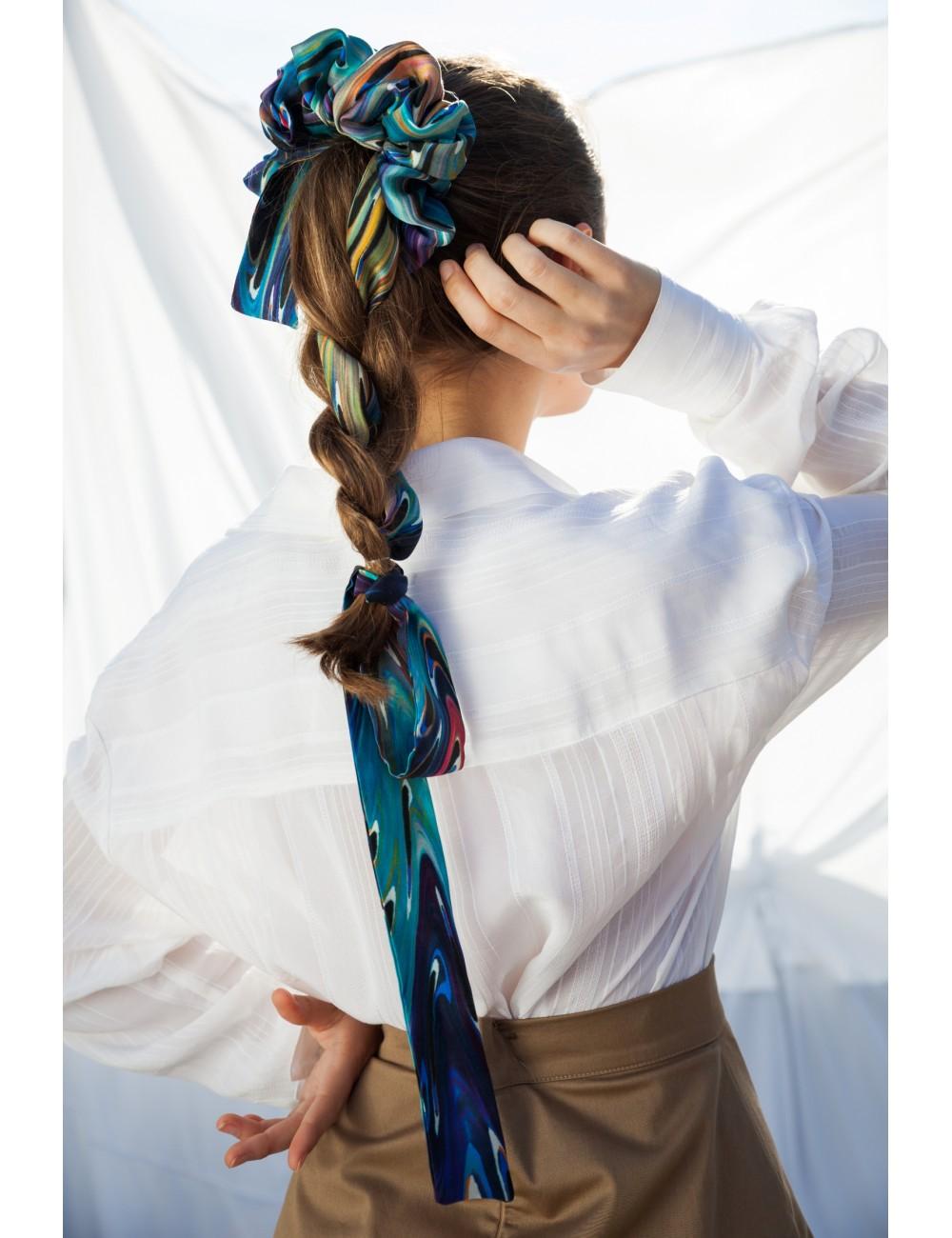 100% natural silk velvet scrunchie large woman scrunchie